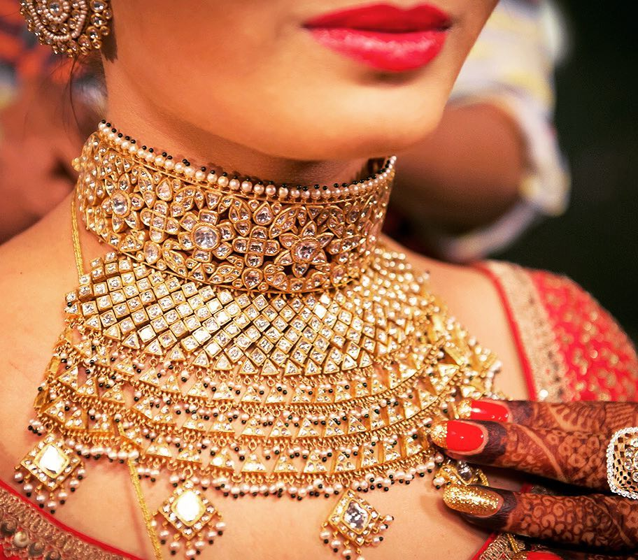 Rajputi aadh Necklace- Bridal Jewellery