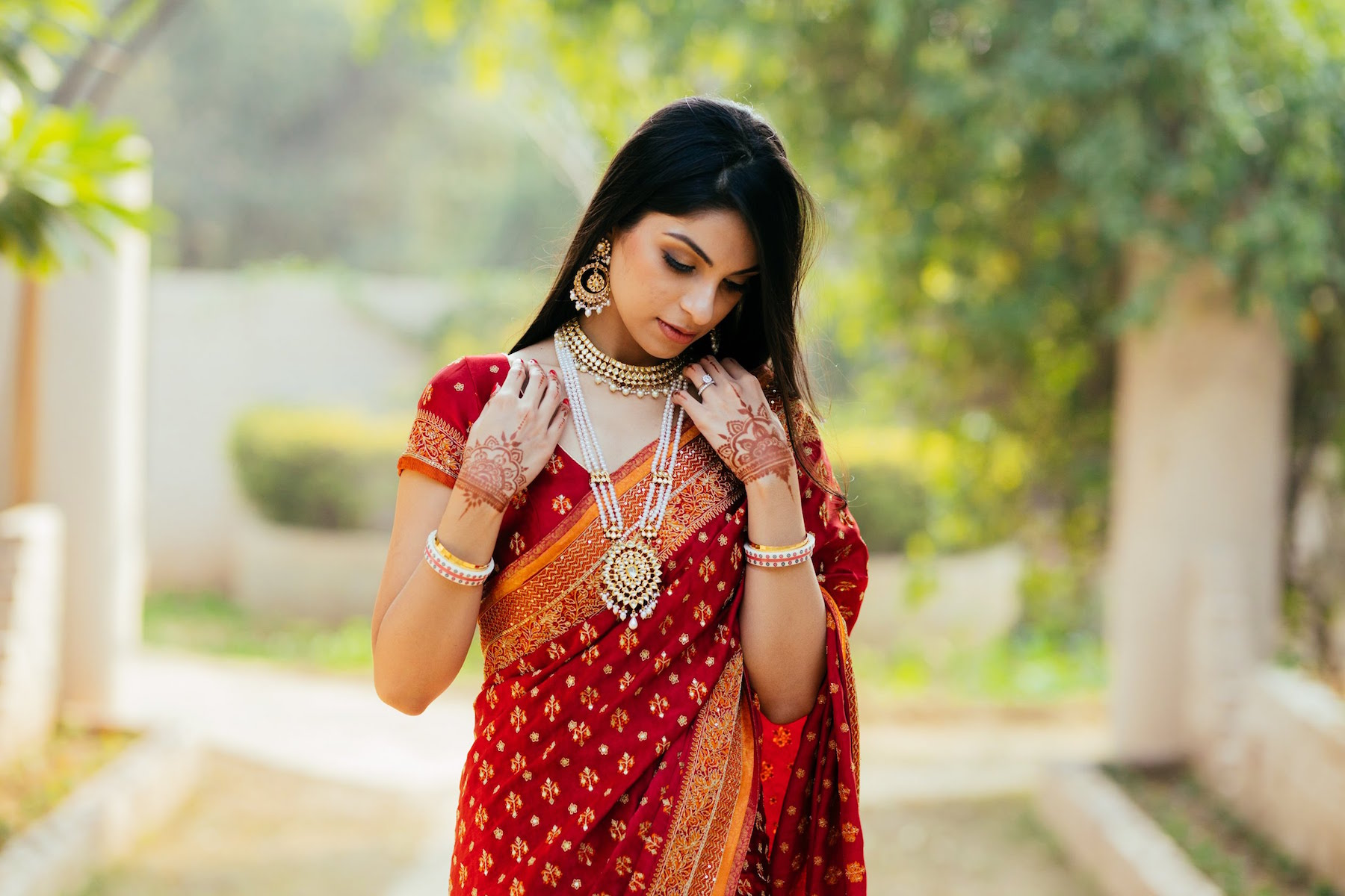 Simple pearl Raani Haar necklace- Jewellery for Indian Brides