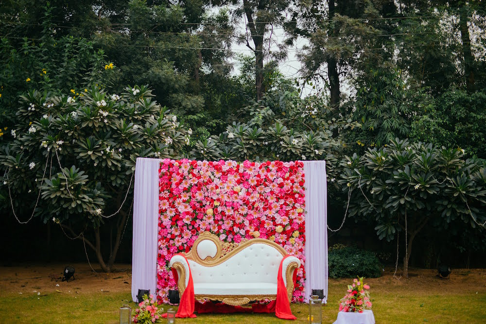 Simple floral Stage Decor- Indian Wedding Decor