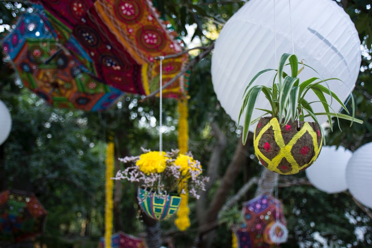 Eco friendly wedding decoration