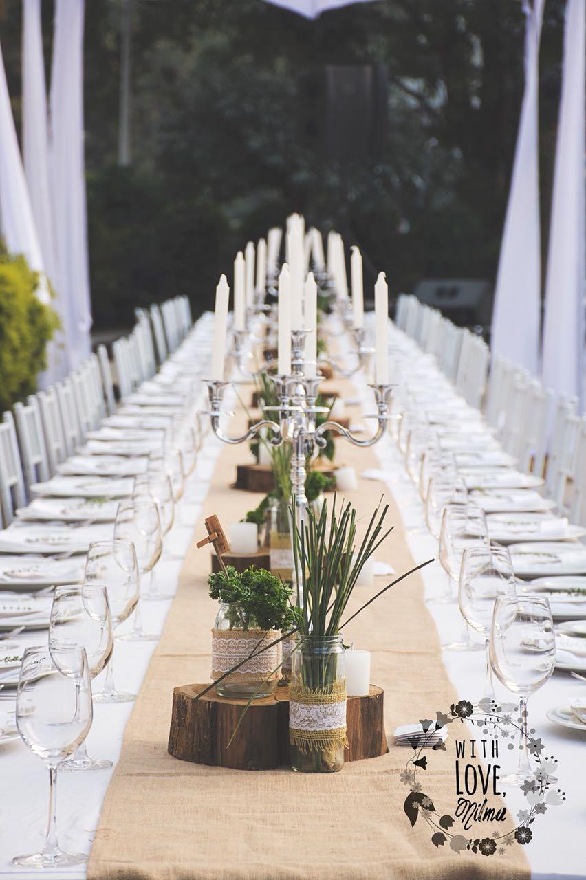 Eco friendly wedding tableware