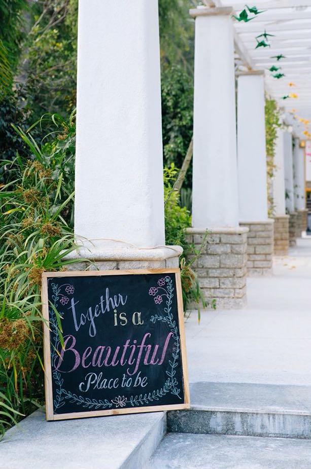 Eco- friendly wedding decorations