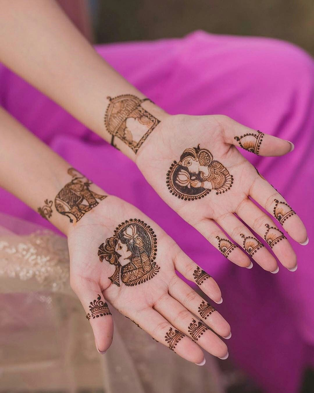 Bridal Mehendi design- Minimalistic henna design for brides