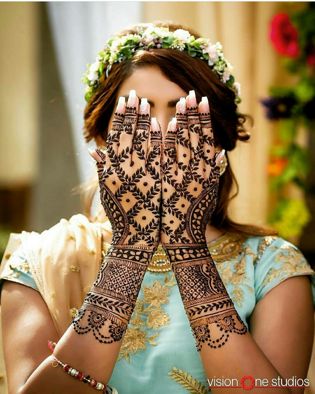 Mehndi Design- Traditional Jaali design for Bridal mehndi