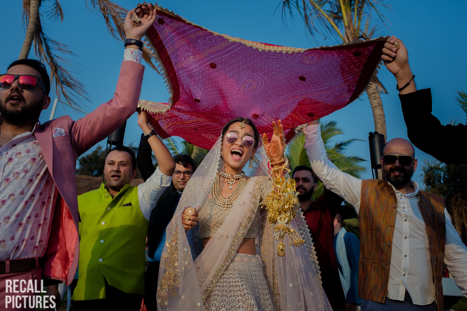 Phoolon ki chadar for bride- Using dupatta as phoolon ki chadar