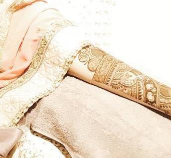 Sonam Kapoor's brial mehendi design by Veena Nagda