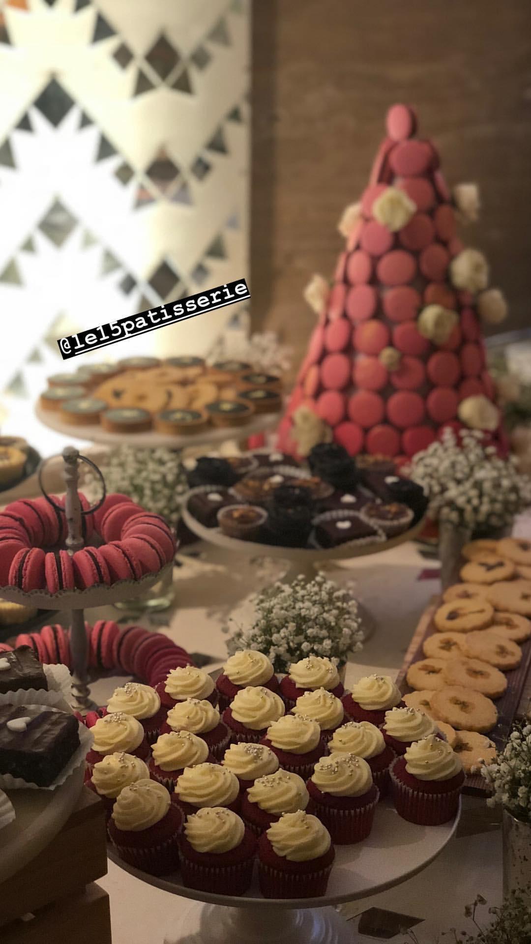 Sonam Kapoor's Mehendi Function- Desserts by Pooja Dhingra (owner of Le15 Patisserie)
