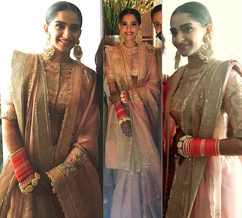 Sonam Kapoor's wedding lehenga post wedding ceremony by Anamika Khanna