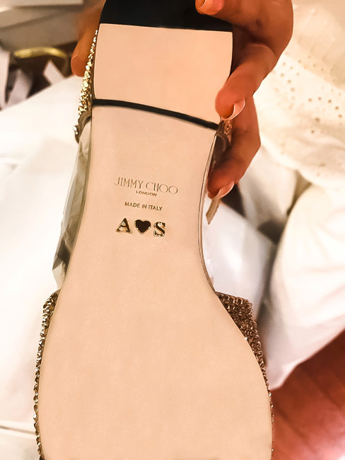 Sonam Kapoor's personalised Jimmy Choo flats for her wedding day