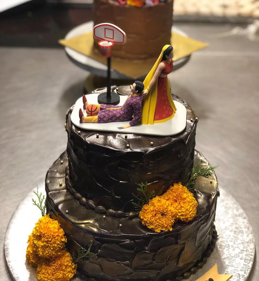 Sonam Kapoor's Wedding cake by Pooja Dhingra - owner of Le15 Patisserie cafe