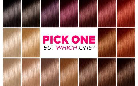 Pick Best Hair Colour from Hair Colour Chart