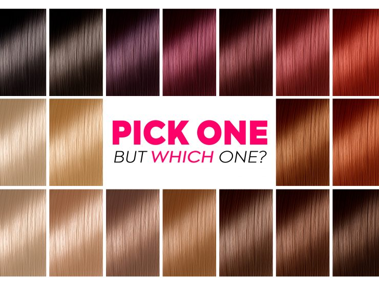 Pick Best Hair Colour from Hair Colour Chart