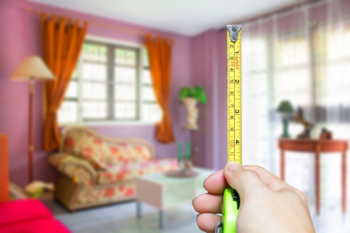 measuring a room for renovation