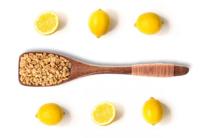 Fenugreek and lemon juice hair mask