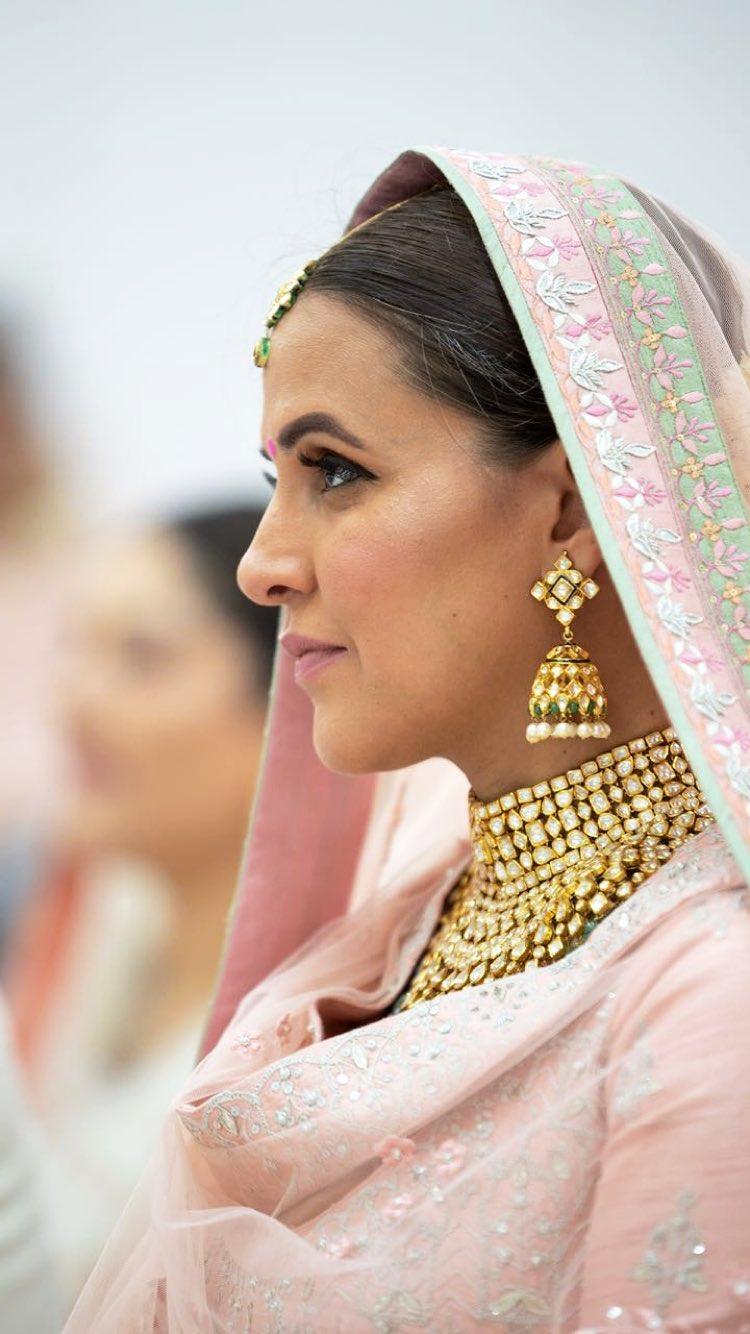 5aaef1b3c40a 3 Bridal Looks We Loved from Neha Dhupia's Elegant Wedding