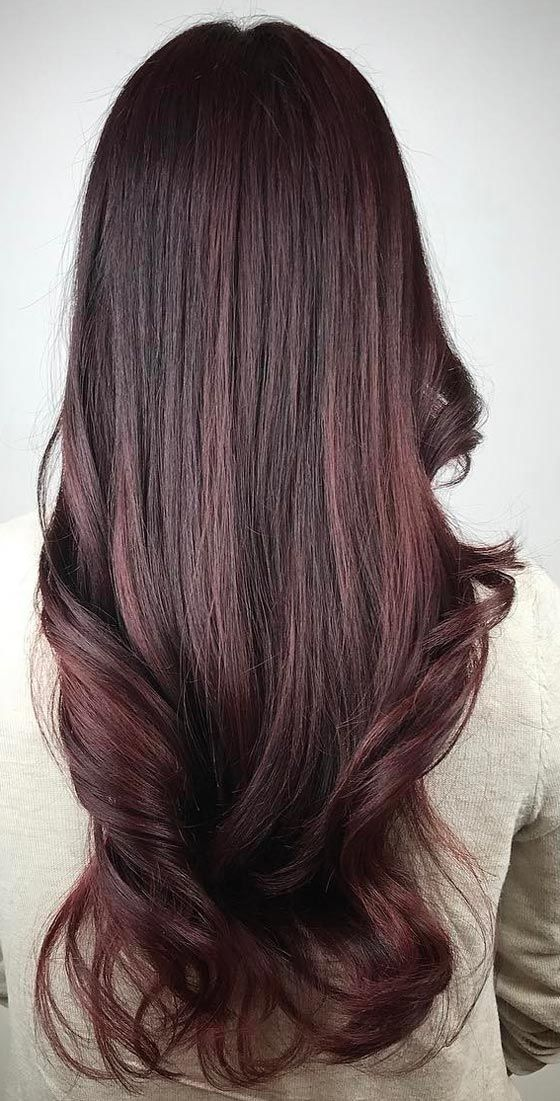 Mahogany brown hair color shade