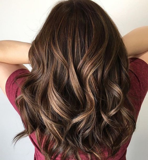 Toffee brown hair color shade
