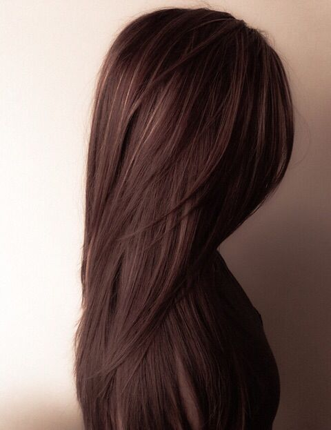Chocolate brown hair color shade
