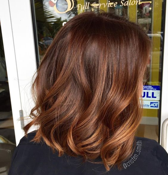 cinnamon brown hair color shade
