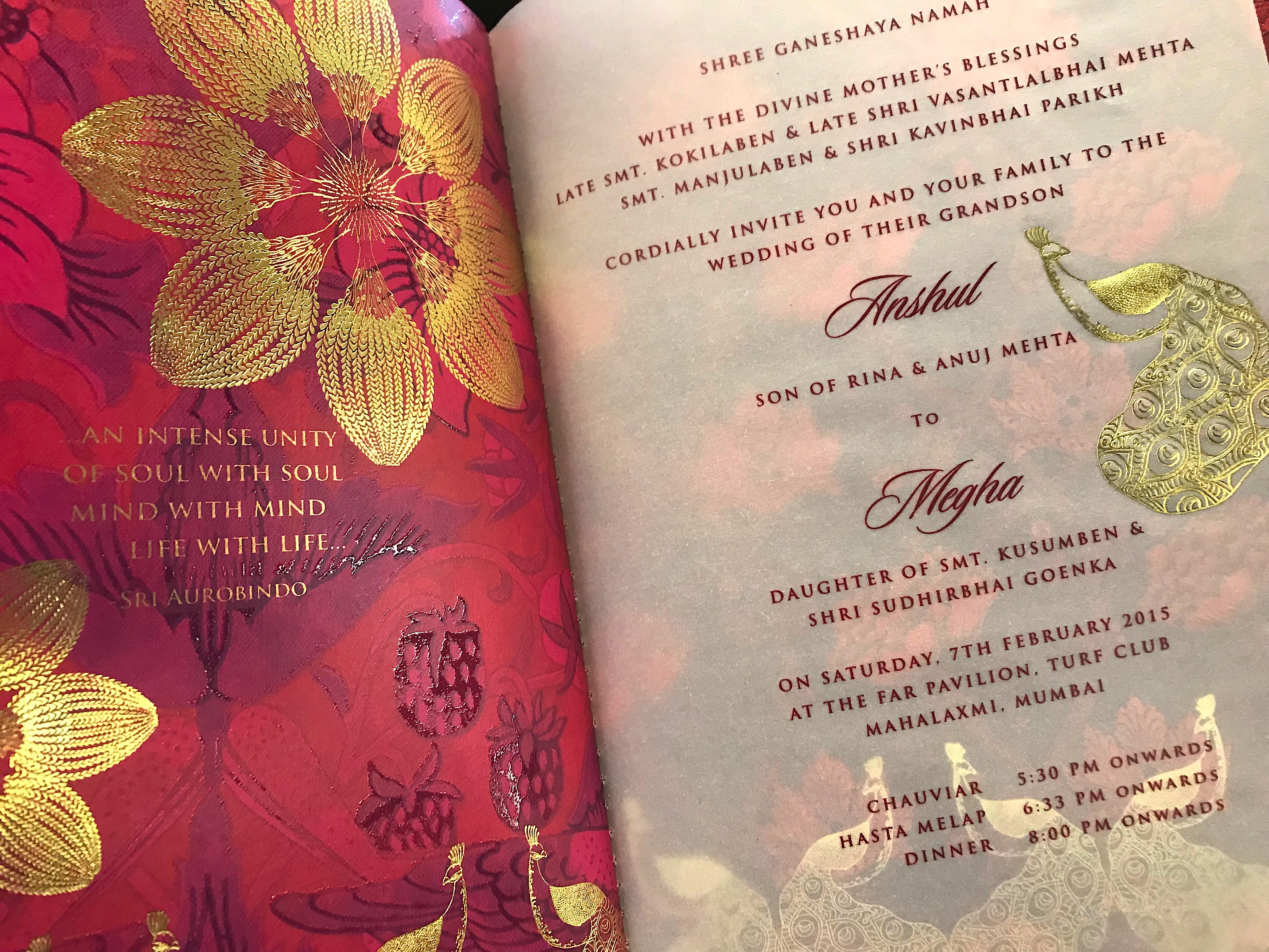 Indian Wedding Invitation Wording in English: What To Say Guide