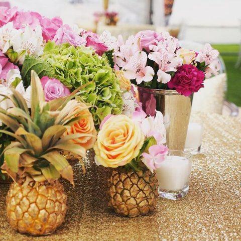 floral pineapple centrepiece