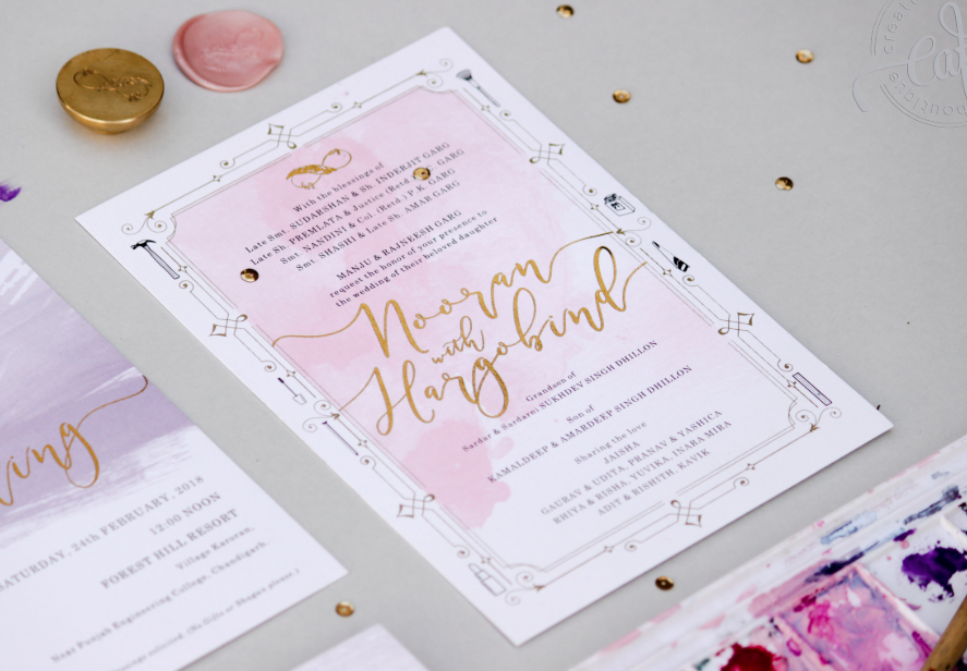 wedding card matter in english