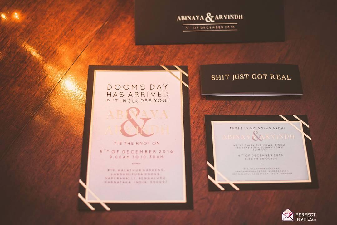 Funny wedding invitation - Indian wedding card