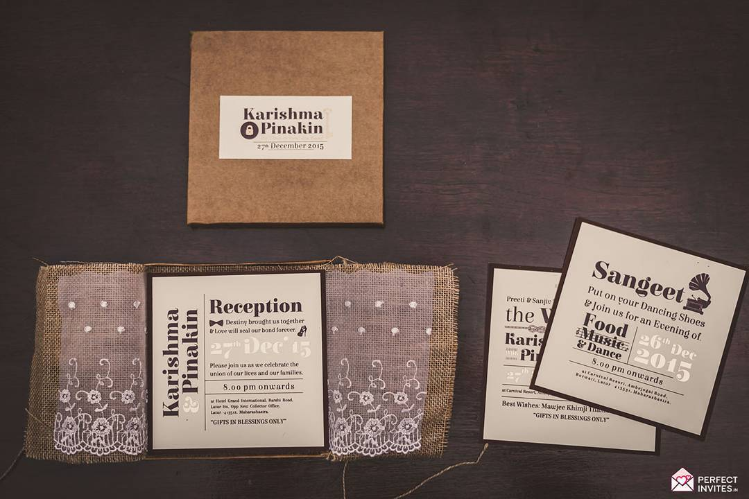 unique wedding invitation designs - rustic