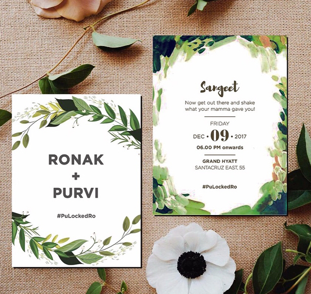 Unique wedding invitation - Sangeet