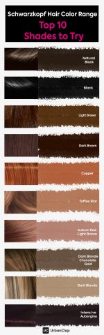 Schwarzkopf top 10 hair color shades