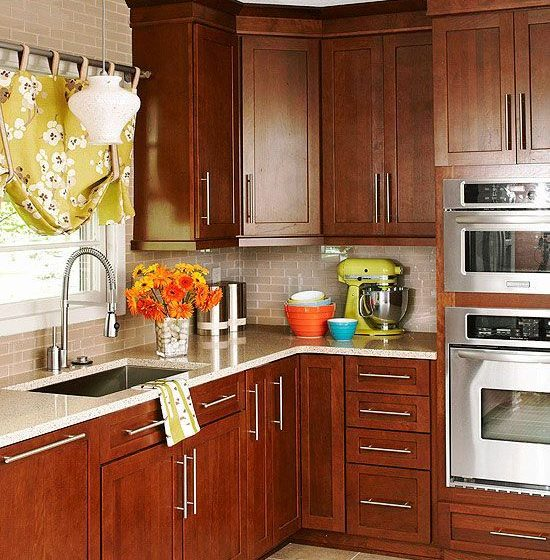 kitchen with cherrywood cabinets