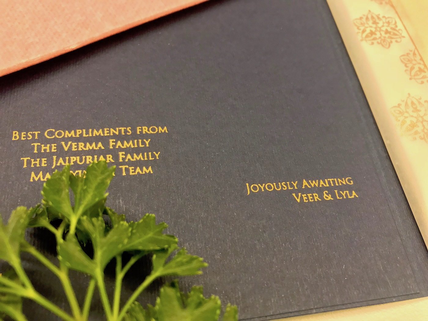 How to include children and big family in Best Compliments From - Indian wedding invite wording