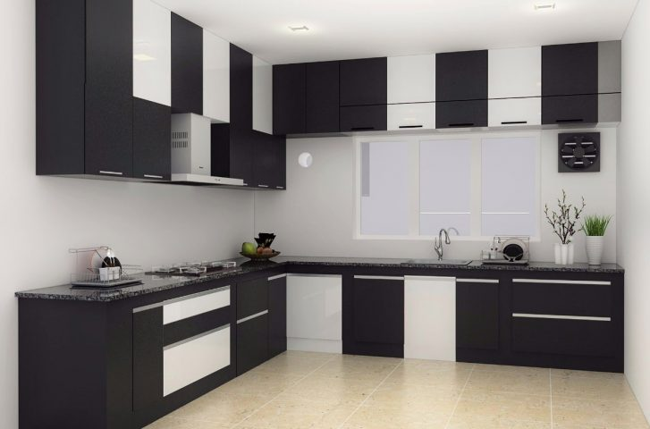 Black and white checkered kitchen design
