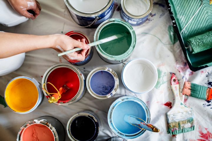 different wall paint colours