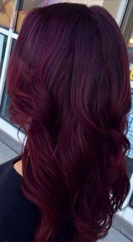 mulberry burgundy hair color shade