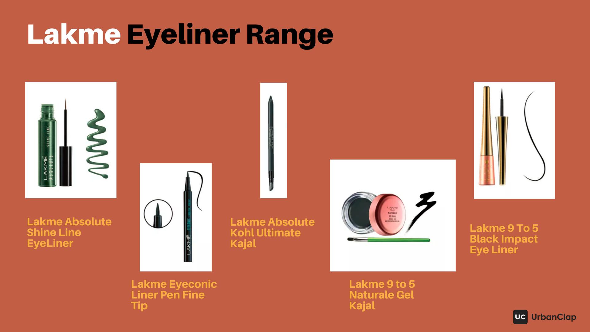 Lakme Eyeliner Range - liquid eyeliner and gel eyeliners