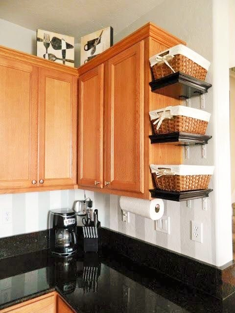 small kitchen design with extra storage