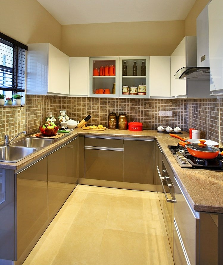 small kitchen design with u shaped layout