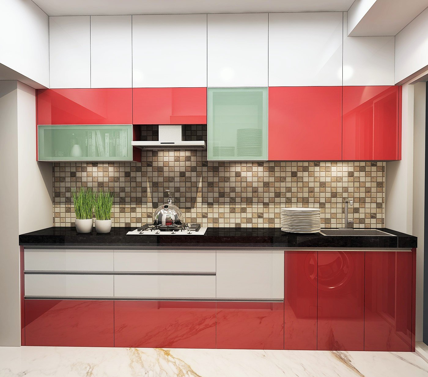small kitchen design with single wall layout