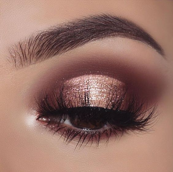 mauve brown eyeshadow golden eyeshadow Image credit: Makeup Tips Site
