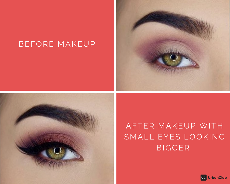small eye makeup before and after