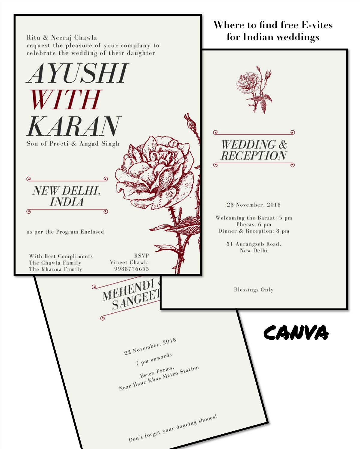 Best Places to Get Free Online Wedding Invitations: For Indian Weddings!