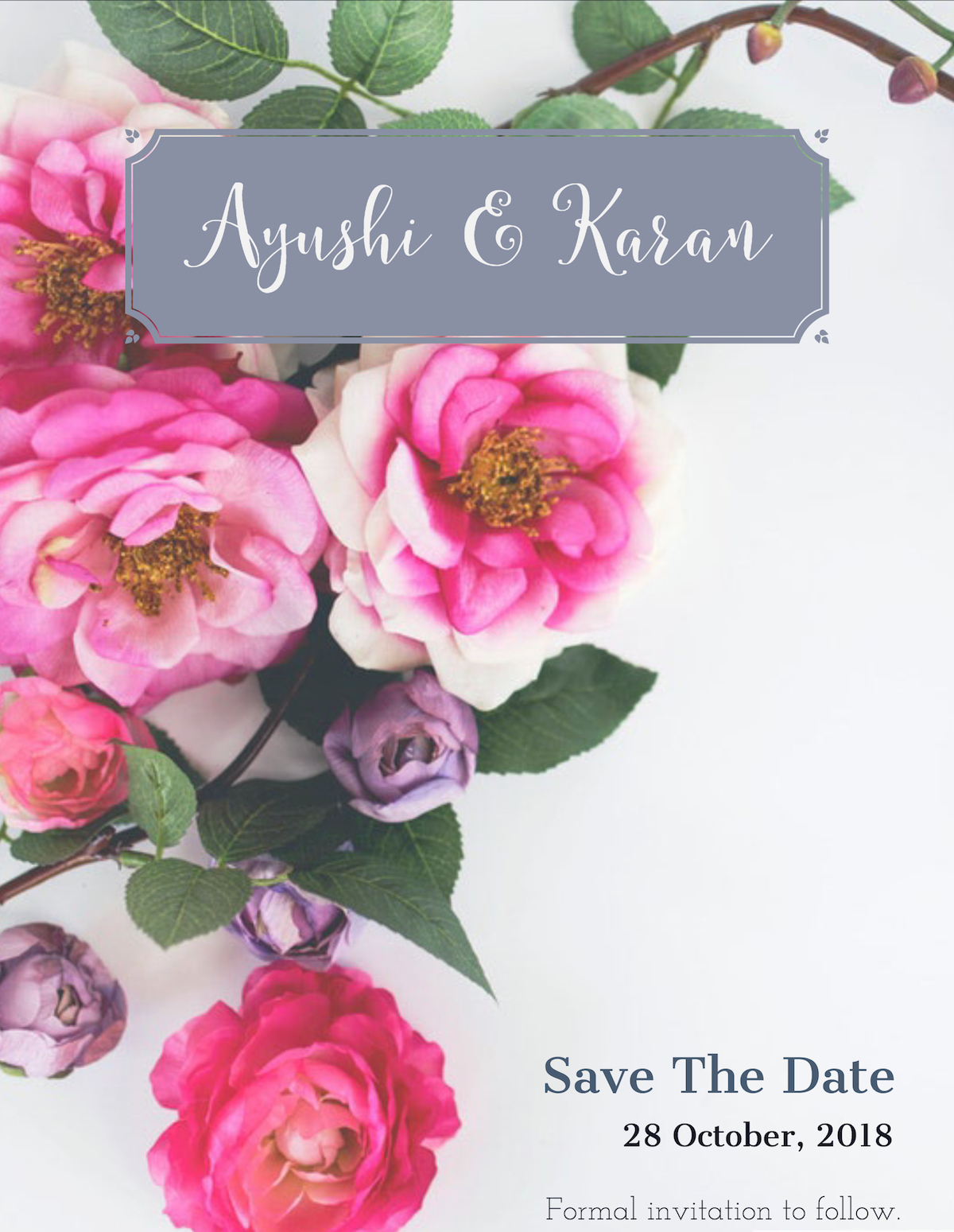 Free download of indian wedding save the date invites - on Spark Post