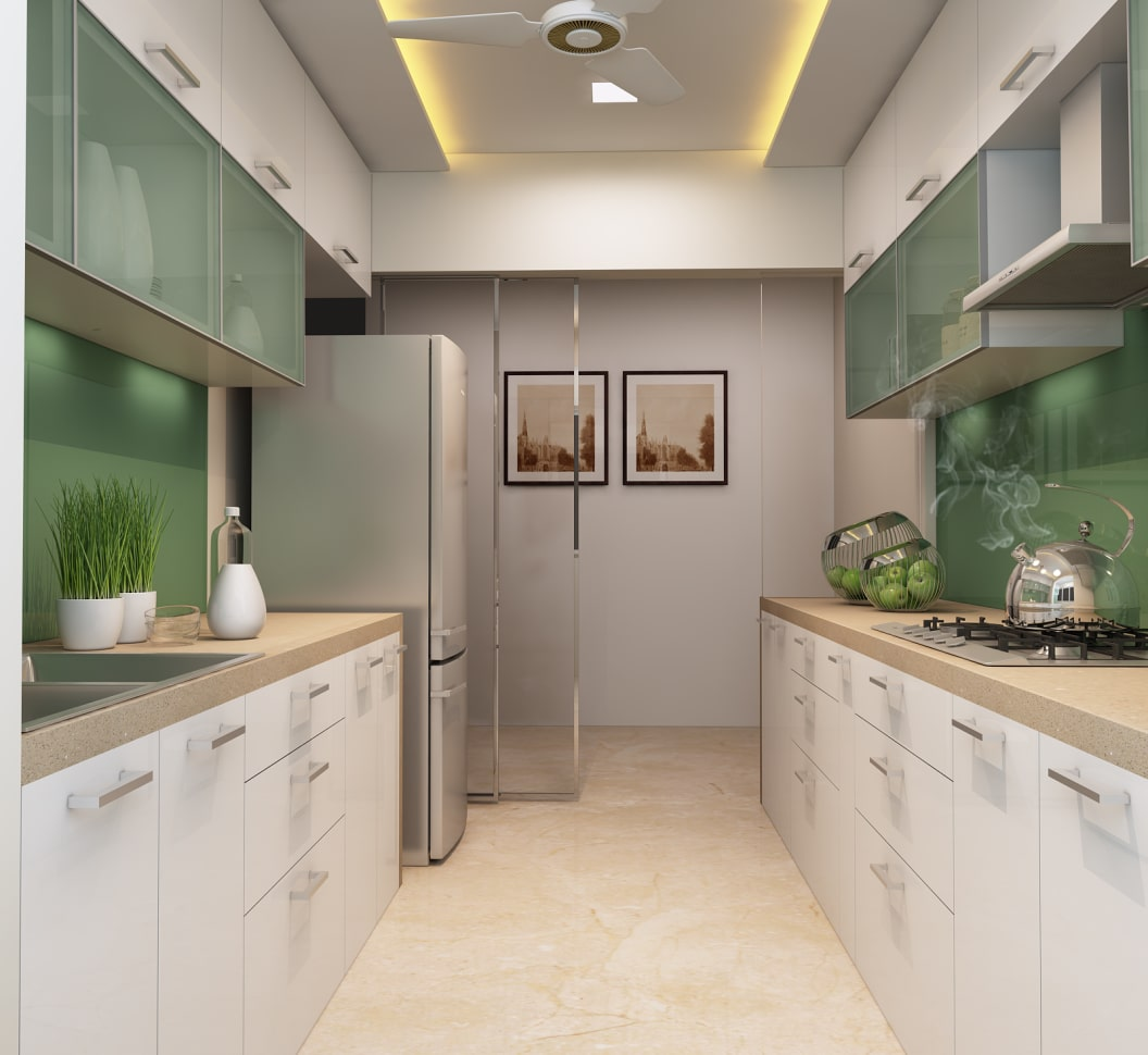 frosted kitchen cabinet design