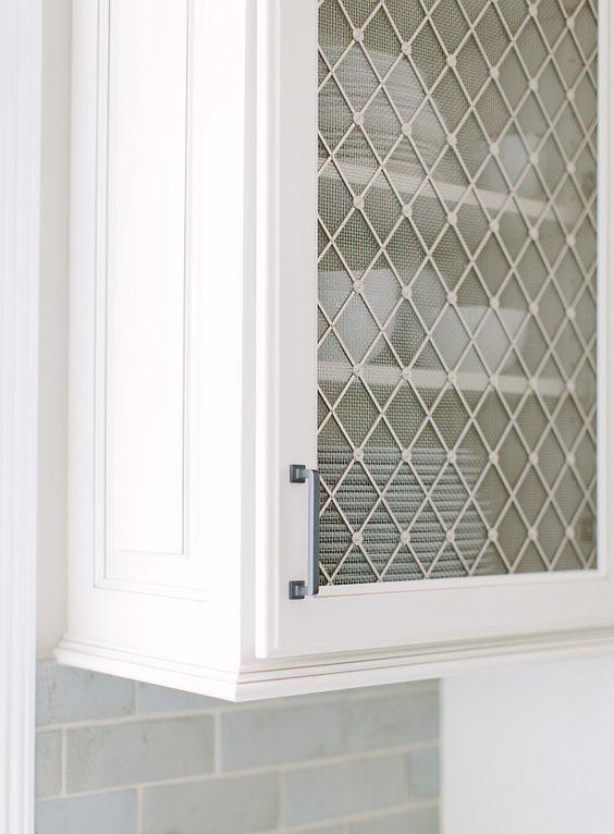 metal mesh kitchen cabinet design