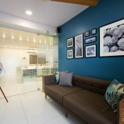 dark blue living room wall paint colours