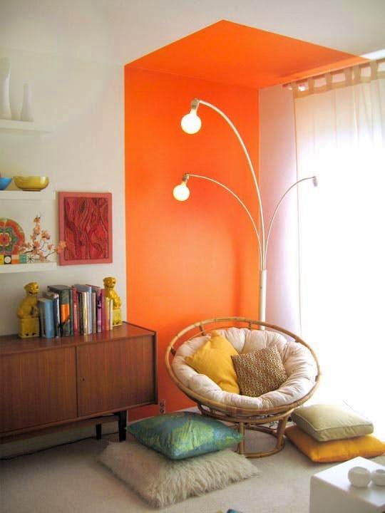 orange wall paint colours