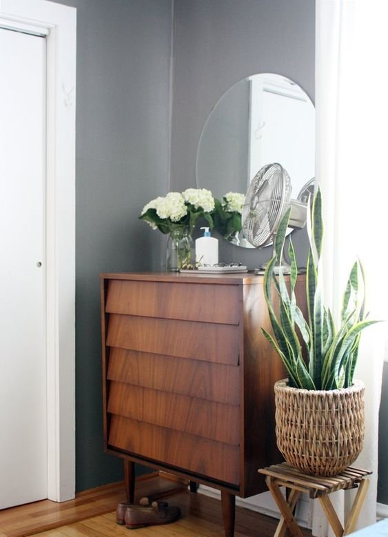 grey wall paint colours for entryway