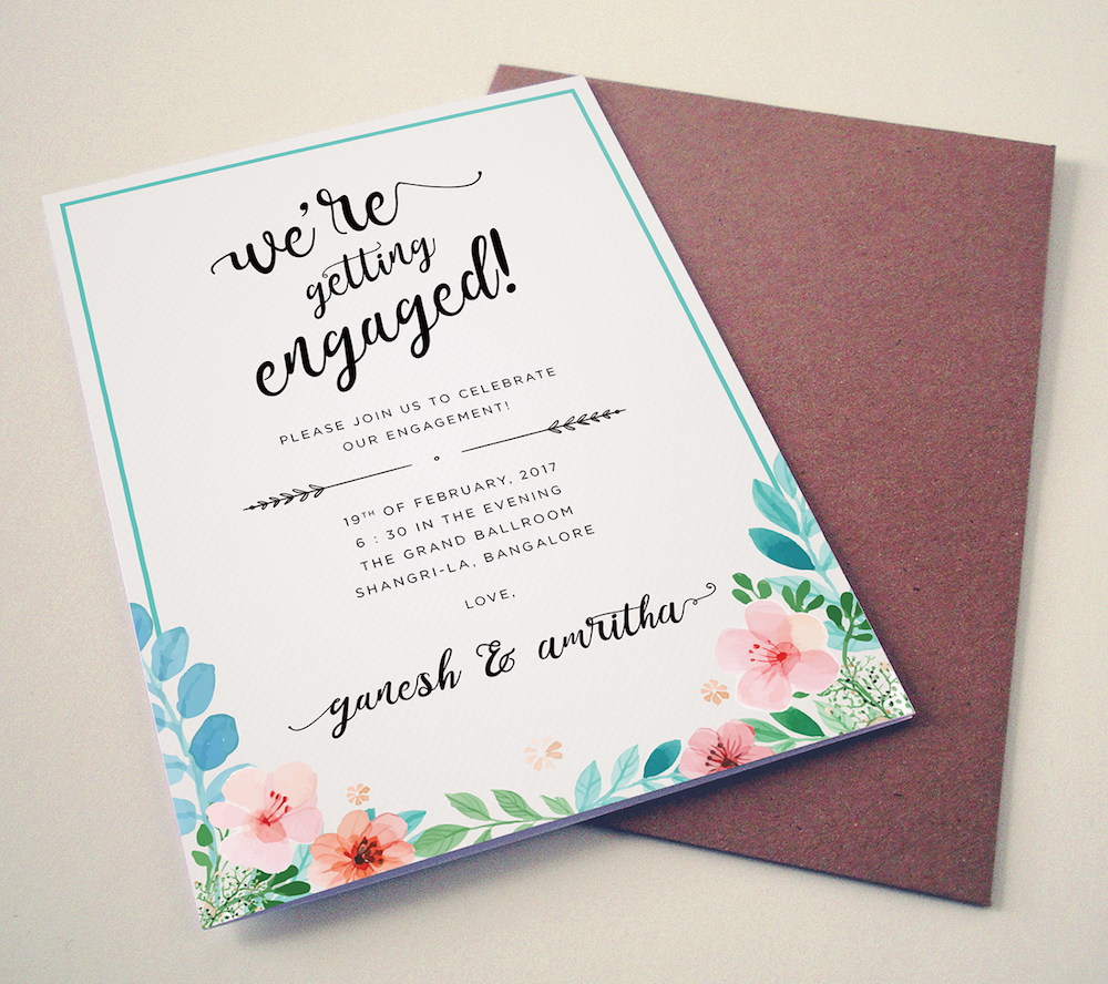 20 engagement invitation message wording ideas to make your own designed by radhika sehrai m4hsunfo