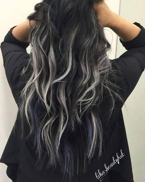 Icy-white hair highlights